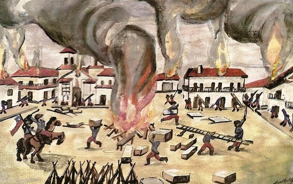 chilenos ordenaron el incendio de Chota