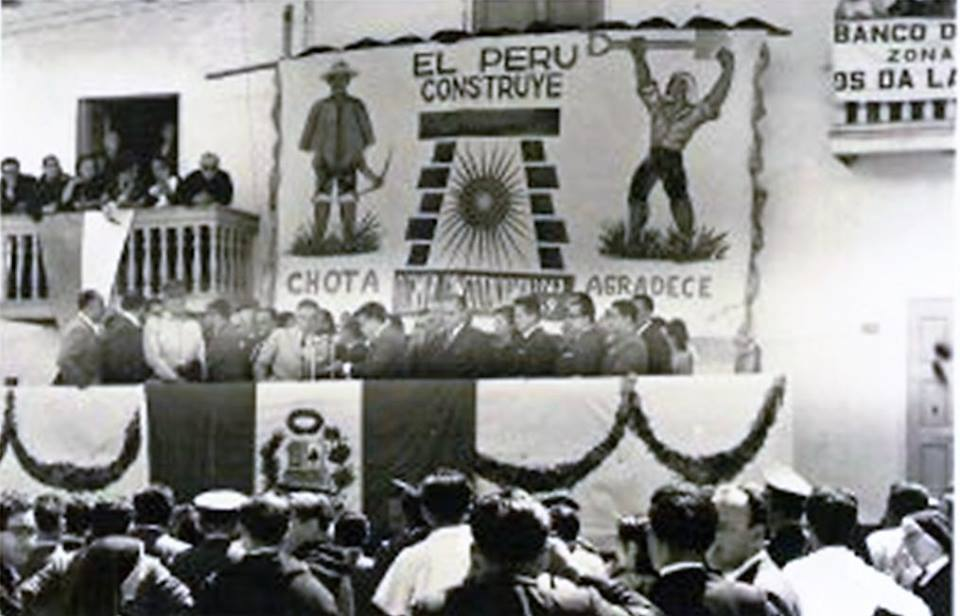 Visita al pueblo de chota del ex presidente fernando belaunde