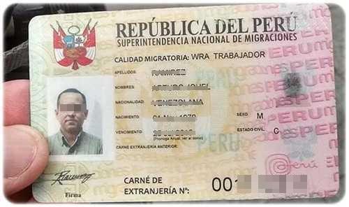 Requisitos para el Carnet de Extranjería para Perú
