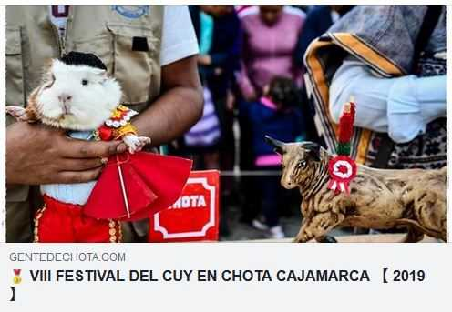 VIII FESTIVAL DEL CUY CHOTA 2019