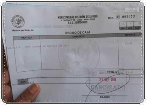 Tramites y requisitos para carnet de sanidad en Perú 5