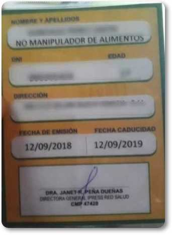 Tramites y requisitos para el carnet sanitario