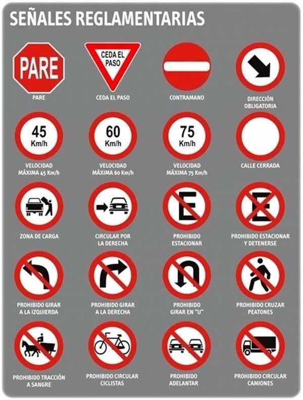 Simulacro de examen de reglas de tránsito MTC
